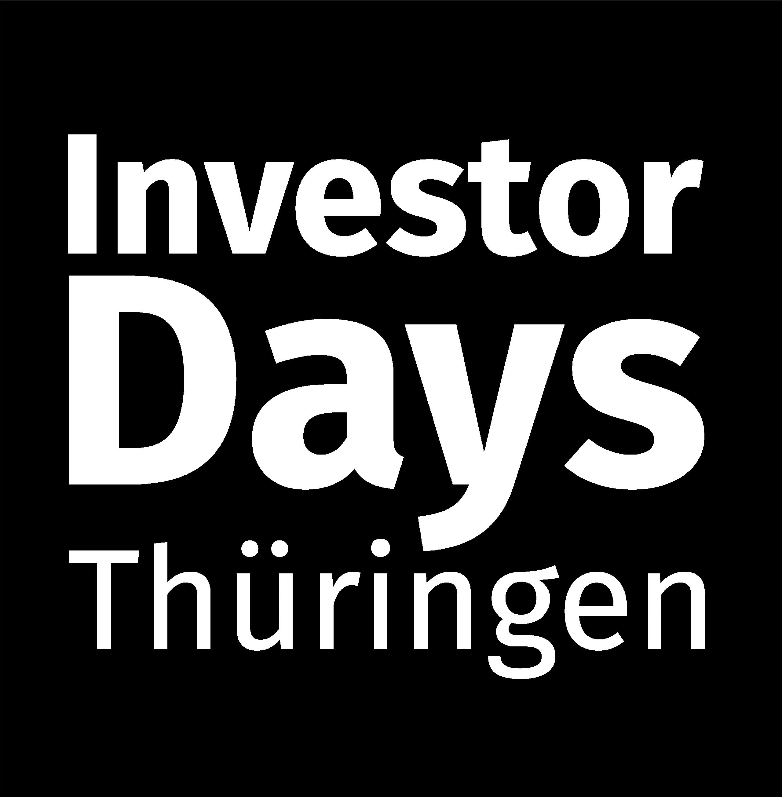 Logo Investor Days Thüringen